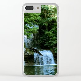 Over By the Waterfall Clear iPhone Case