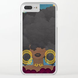 SHE KNOWS HER WORTH Clear iPhone Case