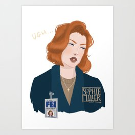 Scully Art Print