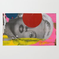 marilyn Area & Throw Rugs featuring Marilyn by FAMOUS WHEN DEAD