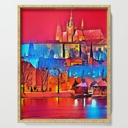 Worldwide Country City Original Artwork Serving Tray