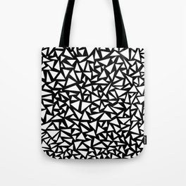 White triangles on Black background Tote Bag