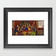 JC: The Last Supper Framed Art Print