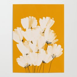 Flowers In Tangerine Poster