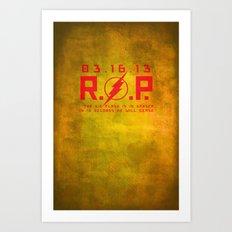 RIP Kid Flash Art Print