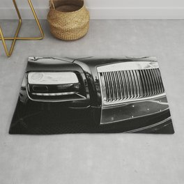 Rolls Grille // Black Luxury Car Close Up Photography Expensive Ultra Wealthy Autos Rug