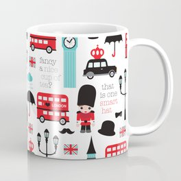 London icons illustration pattern print Coffee Mug