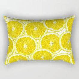 Summer Citrus Lemon Slices Rectangular Pillow