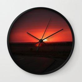 Sunset Highway Wall Clock