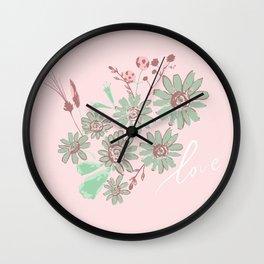 Greeting Petals Wall Clock