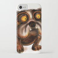 bulldog iPhone & iPod Cases featuring Bulldog by Riccardo Pertici