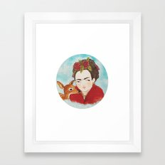Frida & Granizo  Framed Art Print