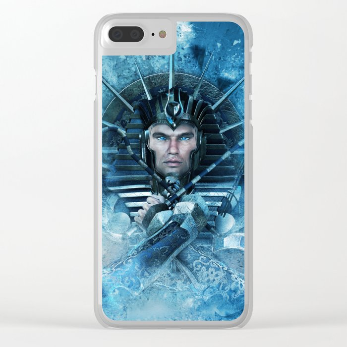 Blue Pharao Clear iPhone Case