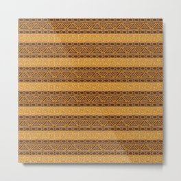 Ethnic african tribal hand-drawn pattern. Metal Print