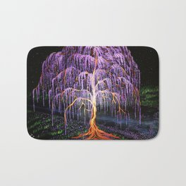 Electric Wisteria Willow Tree Bath Mat