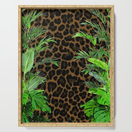 Jungle Leopard Serving Tray