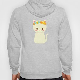 Kitty Flower Crown Hoody