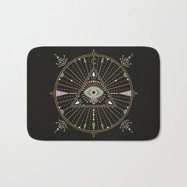 Evil Eye Mandala – Black Bath Mat