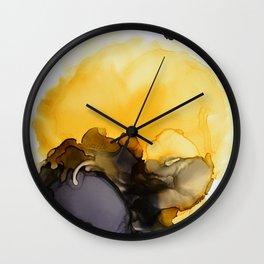 Black & Yellow Smoked Wall Clock