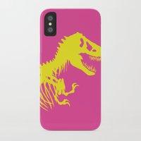 jurassic park iPhone & iPod Cases featuring Retro Jurassic Park by Joseph Raj