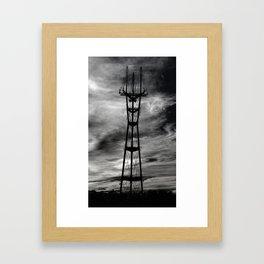 sutro tower bodyshot Framed Art Print