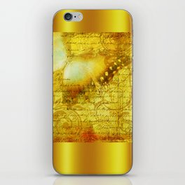 LE PAPILLON | yellow iPhone Skin