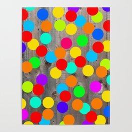 Wood & Dots Poster