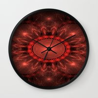 solar system Wall Clocks featuring Solar System by Brian Raggatt