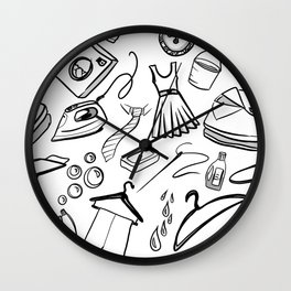 Laundry Lover Wall Clock