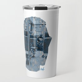 Poster Face #1 Travel Mug