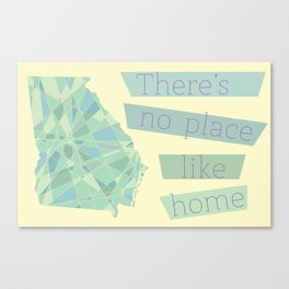 Georgia - There's No Place Like Home Canvas Print