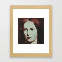Charlotte Bronte Framed Art Print