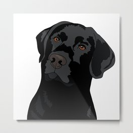 Duke the black lab Metal Print