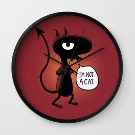 I'm not a Cat Wall Clock