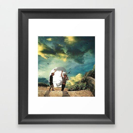 laboratory in the sky... (2) Framed Art Print