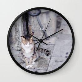 Okinawa cat Wall Clock