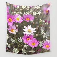 daisy Wall Tapestries featuring Daisy by LebensART Photography