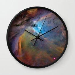 Bright Orion nebula galaxy stars constellation hipster geek cool space star nebulae NASA photo Wall Clock