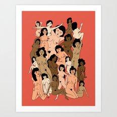 Lovely Ladies Art Print