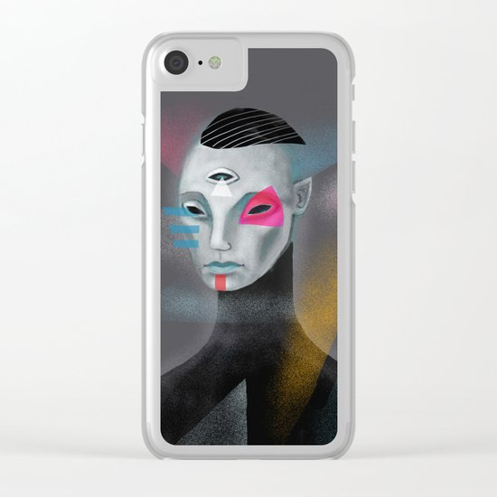 Galactic self portrait Clear iPhone Case