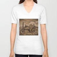 jem V-neck T-shirts featuring Vintage Jem General Purpose Engine by Avril Harris