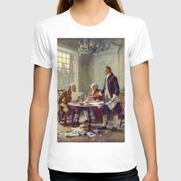 Jean-Leon Gerome Ferris's Writing the Declaration of Independence in 1776 T-shirt