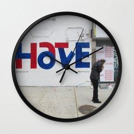 """Love/Hate"" Wall Clock"