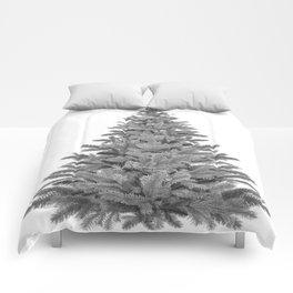 Christmas Tree - Black and White Comforters