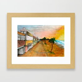 Horizon Sunset Framed Art Print