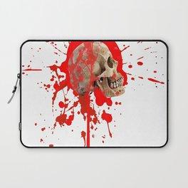 WHITE RED EXPLODING BLOODY SKULL HALLOWEEN  ART Laptop Sleeve