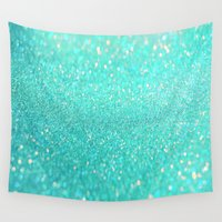 sparkle Wall Tapestries featuring sparkle sea by haroulita
