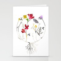 drum Stationery Cards featuring Calico Drum by Ellie Knight Design & Illustration