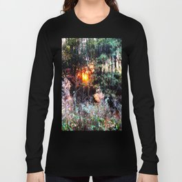 Sunset Forest : Where The Fairies Dwell Long Sleeve T-shirt