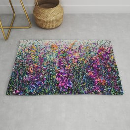 Hollyhock Fantasy Pollock Inspired Abstract Rug